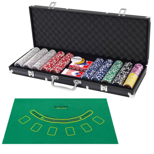 Poker Chip Set 500 Dice Chips Texas Hold'em Cards w/ Black Aluminum Case : Multi-Game Tables - Best Buy Canada Poker Chip Set 500 Dice Chips Texas Hold'em Cards w/ Black Aluminum Case - 웹