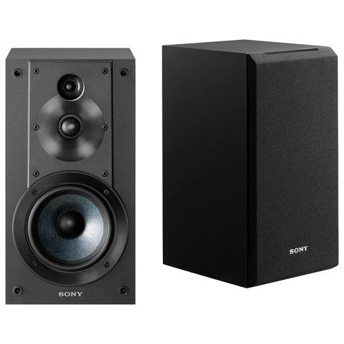 Haut-parleur d'étagère de 100 W SS-CS5 de Sony - Paire - Noir