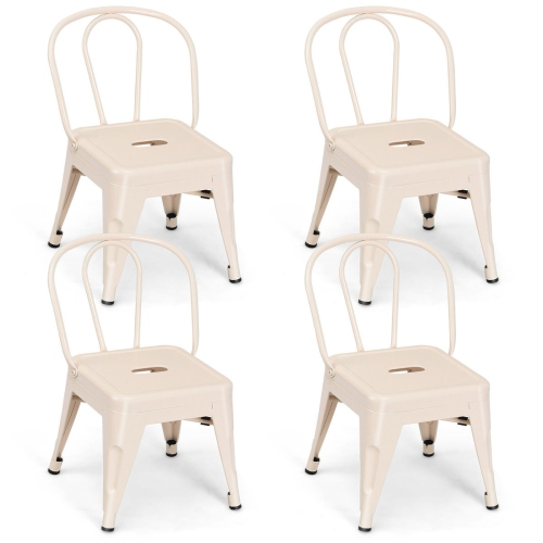 Amazing Costway Set Of 4 Kids Stool Metal Chair Stackable Toddlers Children Lightweight Theyellowbook Wood Chair Design Ideas Theyellowbookinfo
