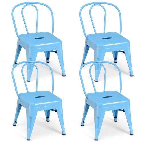 Wondrous Costway Set Of 4 Kids Stool Metal Chair Stackable Toddlers Children Lightweight Alphanode Cool Chair Designs And Ideas Alphanodeonline