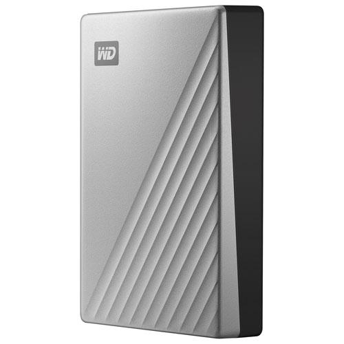 WD My Passport Ultra 4TB USB-C Portable External Hard Drive - Silver