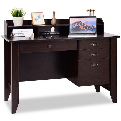 2d080c601232 Costway Computer Desk PC Laptop Writing Table Workstation Office Home    Best Buy Canada