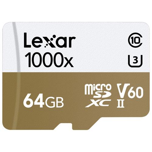 Lexar Professional 64GB 150MB/s microSDHC Class 10 Memory Card