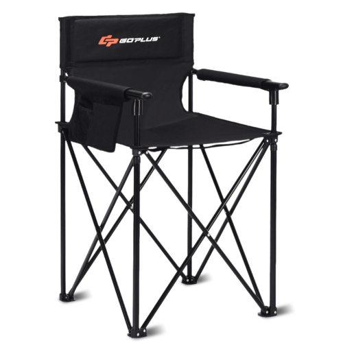 """Portable 38"""" Oversized High Outdoor Beach Chair Camping Fishing Folding Chair"""