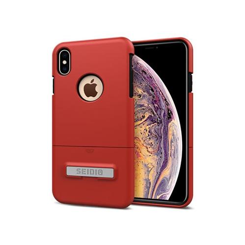 promo code 94db6 a41f9 Seidio Surface iPhone Xs Max Case (Dark Red/Black) with Kickstsand [Stylish  Slim Case]