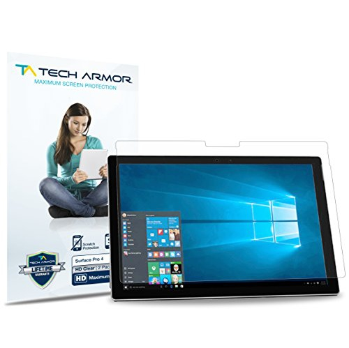 Tech Armor Microsoft Surface Pro (2017) and Surface Pro 4, High Definition  HD-Clear Film Screen Prot
