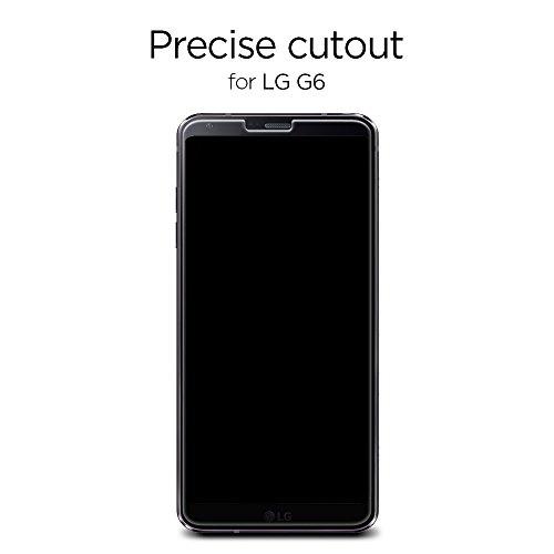 huge selection of 4d1b9 686d1 Spigen LG G6 Screen Protector Tempered Glass 2 Pack [ Case Friendly ] 2  Pack for LG G6
