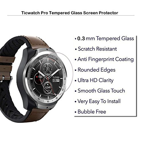 MOTONG Ticwatch Pro Screen Protector, MOTONG Tempered Glass Screen  Protectors for Ticwatch Pro Watch
