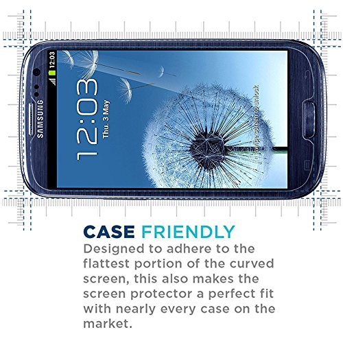 for Samsung Galaxy S3 Tempered Glass Bubble Free Easy to