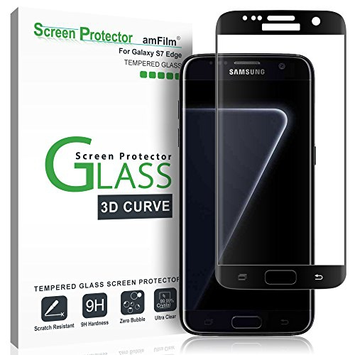 Galaxy S7 Edge Screen Protector Glass Amfilm Full Cover 3d Curved Tempered Glass Screen Protector Best Buy Canada