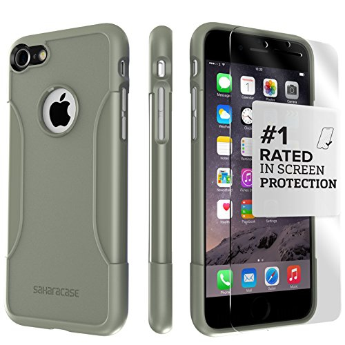 iPhone 8 Case and 7 Case, SaharaCase Protective Kit Bundle with [ZeroDamage Tempered Glass Screen Pr