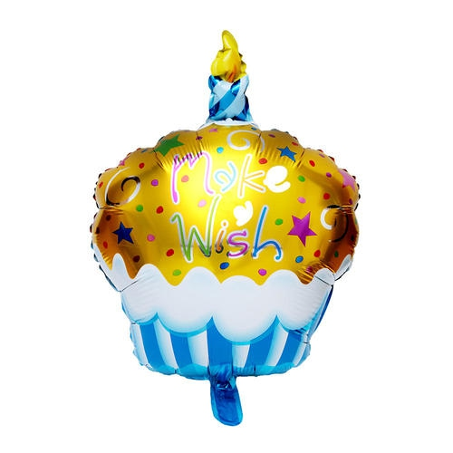 Foil Balloon Candle Cake Mylar Helium Party Decor 27 Gold