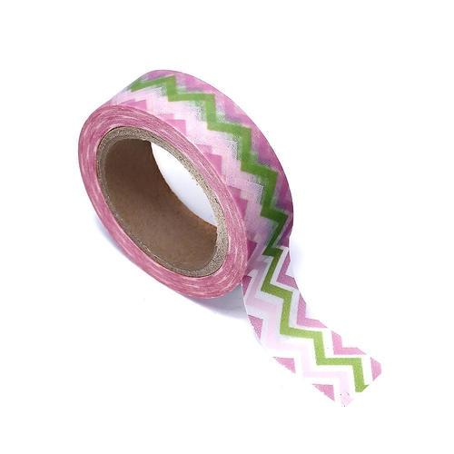 Adorable ruban décoratif de motif de vague de washi tape, 15mm x 10m, 1Pc - LivingBasics ™
