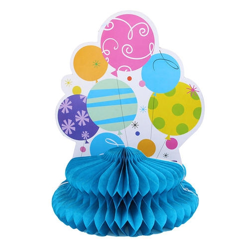 Party Honeycomb Tissue Paper Table Centerpiece Balloon Table Top