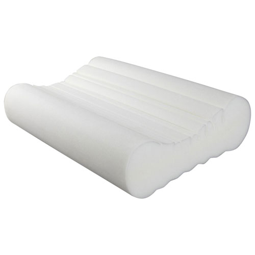 bodyform orthopedic anti snore foam pillow white