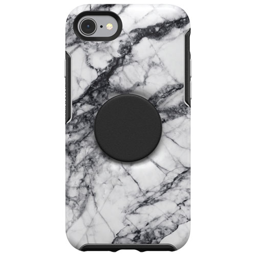 Otterbox Symmetry Otter Pop Fitted Hard Shell Case For Iphone Se 2nd Gen 8 7 White Marble Best Buy Canada