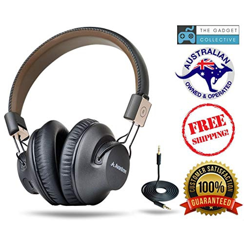 5bc12d997b0 Avantree 40 hr Wireless Bluetooth 4.1 Over-the-Ear Foldable Headphones /  Headset with Mic, APTX LOW   Best Buy Canada