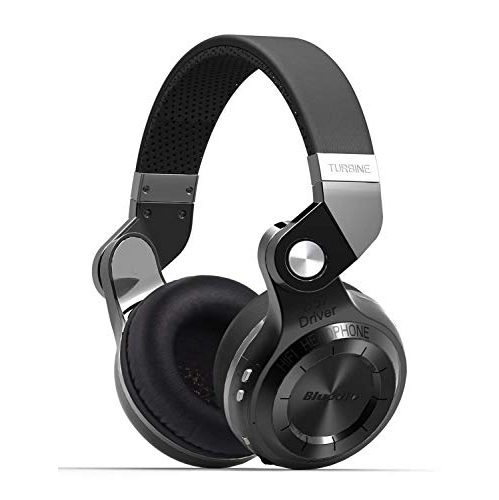 Bluedio T2s Bluetooth Headphones On Ear with Mic, 57mm Driver Rotary  Folding Wireless Headset, Wired
