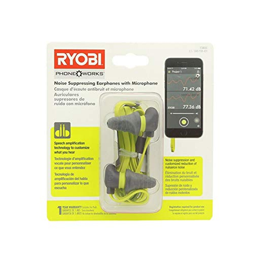 ff527fb8d1e Ryobi ES8000 Phone Works Jobsite Noise Suppressing Earphones with Voice  Amplifying Microphone | Best Buy Canada