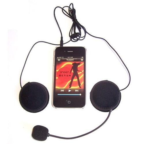Sports/motorcycle helmet stereo Earphones + Microphone (Black) | Best Buy  Canada