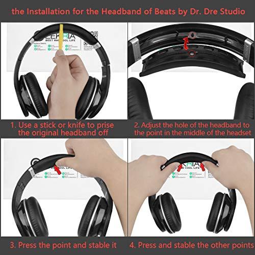 Geekria Headband Pad Replacement for Beats by Dr  Dre Studio (1st Gen)  Headphones/Studio 1 0 Headban