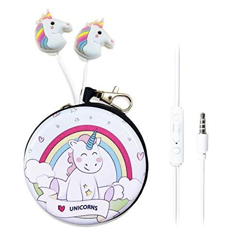 80a9058b045 QearFun in Ear 3D Cute Cartoon Animal Unicorn Horse Headphones with Mic  with Earphone Case (Rainbow | Best Buy Canada
