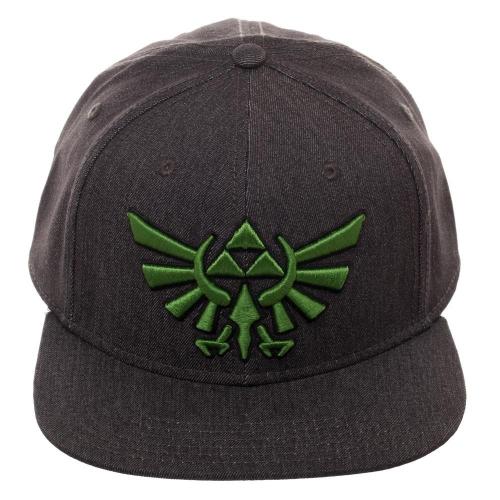 5ab05b5cb9 Nintendo Zelda Logo Flex - Green   Grey - Cap Baseball Hat