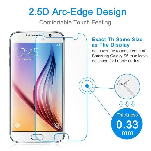 【2 Paquets】 Protecteur d'écran en verre trempé CSmart Premium pour Samsung Galaxy S6
