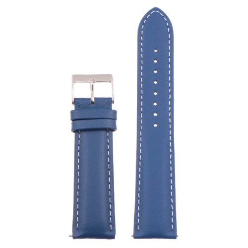 StrapsCo Classic Mens Leather Watch Band - Quick Release Men's Strap - 24mm - Tan