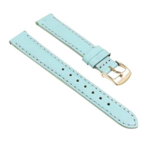 ce20e8b0ef5 StrapsCo Classic Ladies Leather Watch Band - Quick Release Women s Strap -  12mm Light Blue