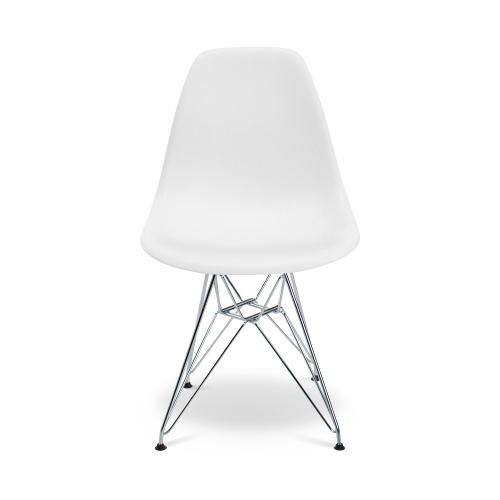 Chaise Eames Style Avec Pieds En Chrome Eiffel Pour La Salle A Manger