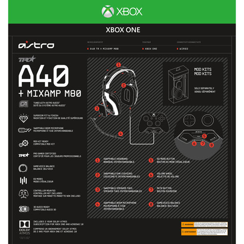 ASTRO A40 TR Gaming Headset + MixAmp M80 for Xbox One