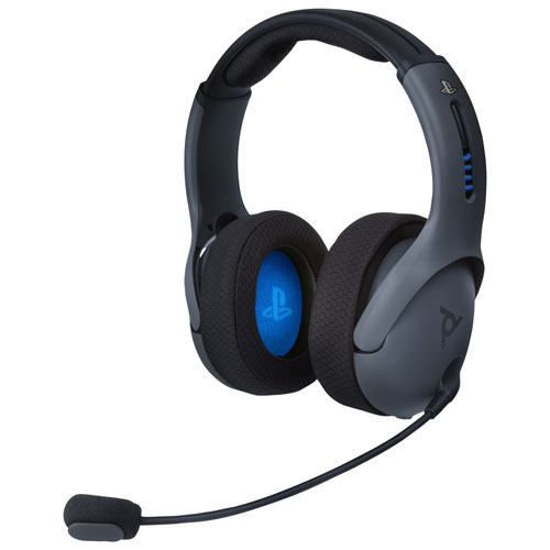 PDP LVL50 Wireless Gaming Headset with Microphone for PlayStation 4 - Grey