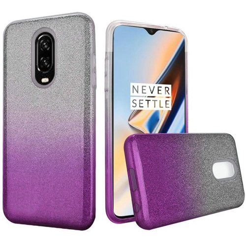 the latest 79ef0 c266d Insten Two Tone Hard Glitter TPU Case For OnePlus 6T - Purple