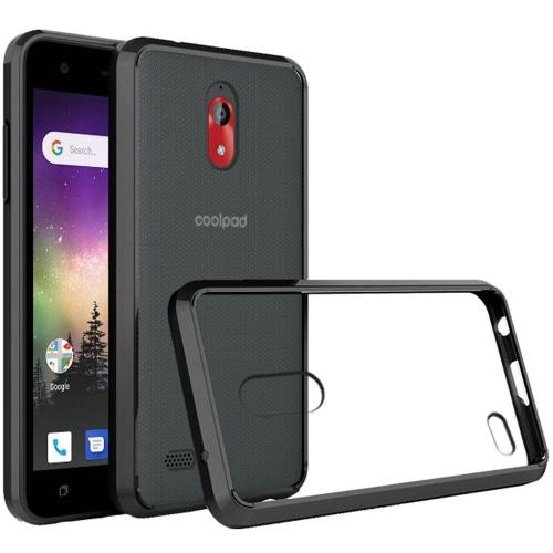 Insten Ultra Edge Sturdy Bumper Hard Shockproof Plastic TPU Case For  Coolpad 3310 (Illumina) - Clear Black