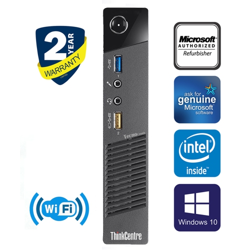 New! Lenovo ThinkCentre M92p Tower Computer Core i5 3470 16GB RAM 500GB HDD  DVD Win10 Home HDMI WiFi Tecnocanada Refurbished - Online Only