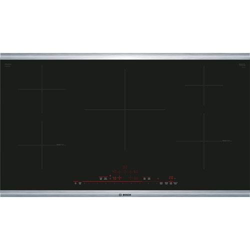 Surface de cuisson à induction de 36 po à 5 éléments avec bordure de Bosch - Noir