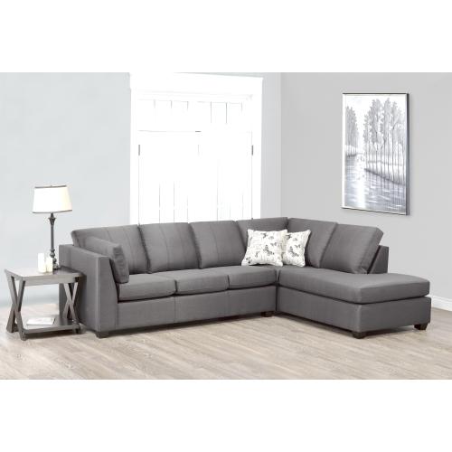 Canadian Sofa Distributions Nathan, Grey Fabric Sectional Sofa