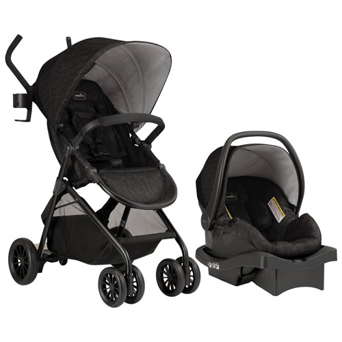 Evenflo Sibby Standard Stroller with LiteMax 35 Infant Car Seat - Black