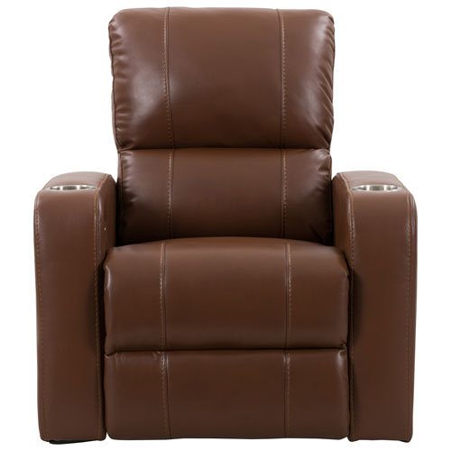Pleasing Tucson Faux Leather Power Recliner Chair Brown Caraccident5 Cool Chair Designs And Ideas Caraccident5Info