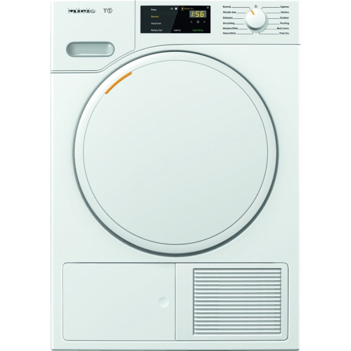 Miele TWB120 Classic Heat-Pump Tumble Dryer with FragranceDos, Lotus White