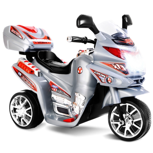 Kids Ride On Motorcycle Powered Electric Toy Power Bicycle 3 Wheel 6V Battery