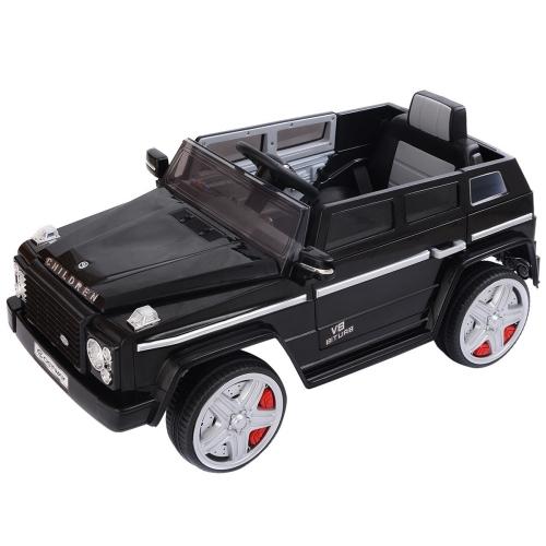 12V MP3 Kids Ride On Car Battery RC Remote Control w/ LED Lights Black