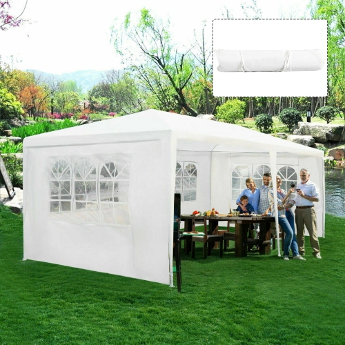 Costway Outdoor 10'x20' Canopy Tent Heavy Duty Wedding Party Sidewalls Window Carry Bag