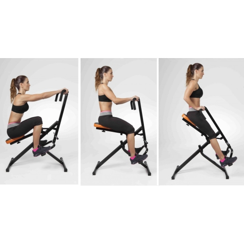 Monitor POWER RIDER Total Crunch W Hydraulic Bike Body Horse Abdominal Machine