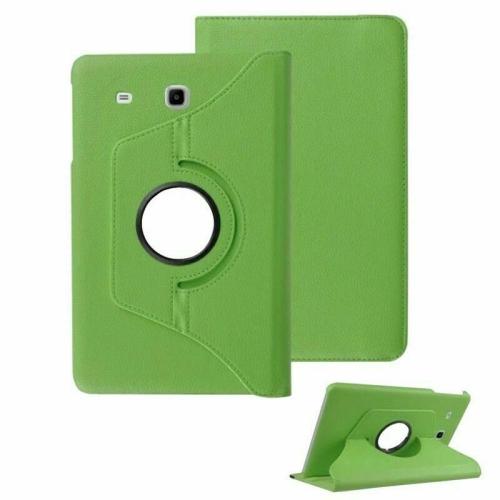 """【CSmart】 Rotation à 360 degrés PU Cuir Étui Coque pour tablette Couverture de cas intelligente pour Samsung Tab E 8.0"""" T375 T377, Vert"""