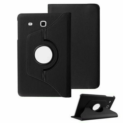 """【CSmart】 Rotation à 360 degrés PU Cuir Étui Coque pour tablette Couverture de cas intelligente pour Samsung Tab E 8.0"""" T375 T377, Noir"""