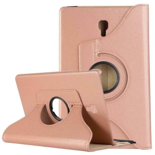 """【CSmart】 Rotation à 360 degrés PU Cuir Étui Coque pour tablette Couverture de cas intelligente pour Samsung Tab E 8.0"""" T375 T377, Or rose"""