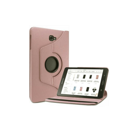 """【CSmart】 Rotation à 360 degrés PU Cuir Étui Coque pour tablette Couverture de cas intelligente pour Samsung Tab E Lite 7.0"""" T110 T113 T115, Or rose"""