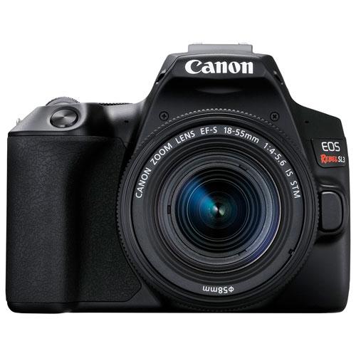 Canon EOS Rebel SL3 DSLR Camera with 18-55mm Lens Kit - Black 3453C002